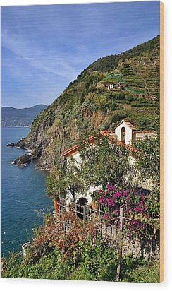 Cinque Terre Seaside Wood Print by Henry Kowalski