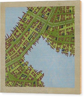 Cipher N. 16 Wood Print by Federico Cortese