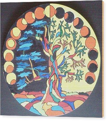 Circle Of Life Wood Print by Swati Panchal