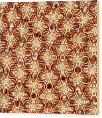 Circles Abstract Wood Print by Frank Tschakert