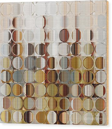 Circles And Squares 36. Modern Abstract Fine Art Wood Print by Mark Lawrence