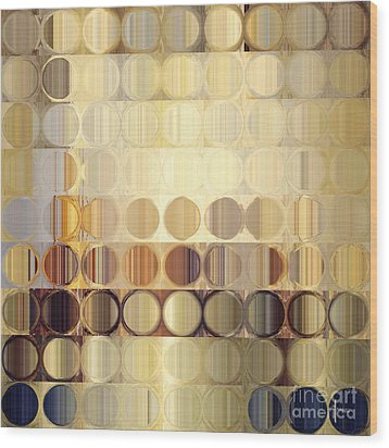 Circles And Squares 37. Modern Abstract Fine Art Wood Print by Mark Lawrence