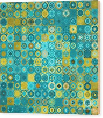 Circles And Squares 6. Modern Home Decor Art Wood Print
