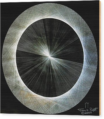 Wood Print featuring the drawing Circles Do Not Exist 720 The Shape Of Pi by Jason Padgett