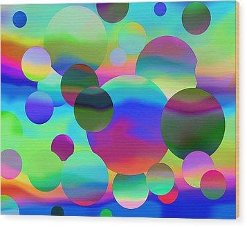 Wood Print featuring the digital art Circles by Elizabeth Budd
