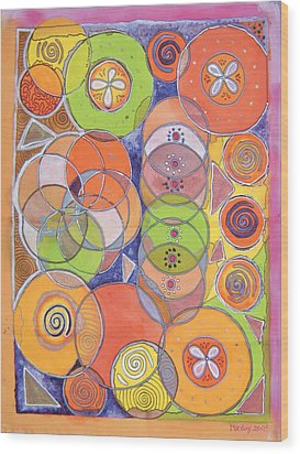 Circles Within Circles Wood Print by Mandy Simpson