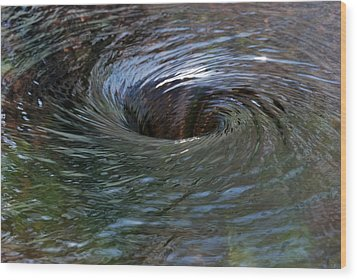 Circling Wood Print by Wendy Wilton