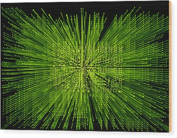Circuit Zoom Wood Print by Jerry McElroy
