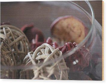 Circular Form Wood Print by Stacie  Goodloe