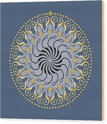 Circularity No. 1032 Wood Print by Alan Bennington