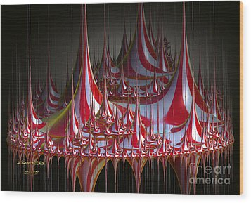 Circus-circus Wood Print by Melissa Messick