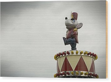 Circus Mouse Wood Print by Bud Simpson