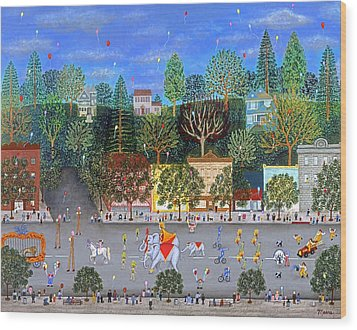 Circus Parade Two Wood Print by Linda Mears