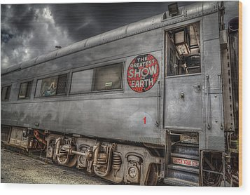 Circus Train Wood Print
