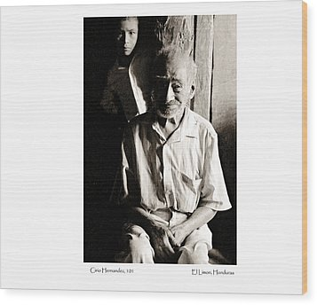 Wood Print featuring the photograph Cirio Hernandez by Tina Manley