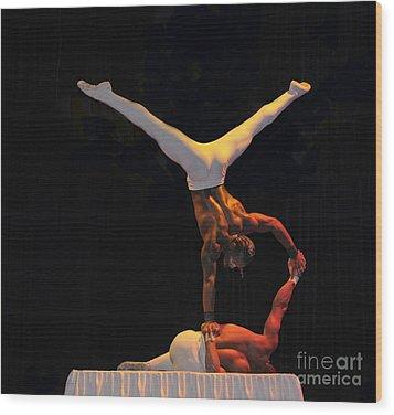 Cirque Wood Print by Cindy Lee Longhini