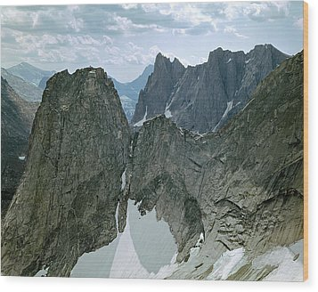 209615-cirque Of Towers, Wind Rivers, Wy Wood Print