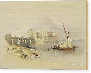 Citadel Of Sidon Wood Print by David Roberts