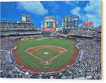 Citi Field Wood Print