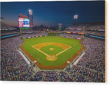 Citizens Bank Park Philadelphia Phillies Wood Print by Aaron Couture