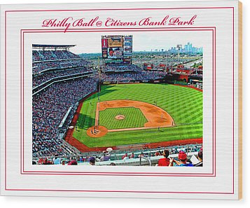 Citizens Bank Park Phillies Baseball Poster Image Wood Print by A Gurmankin