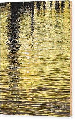 Citrine Ripples Wood Print by Chris Anderson