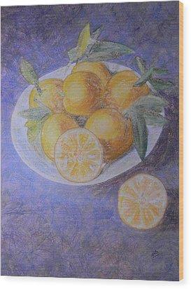 Citrus Wood Print by Adel Nemeth