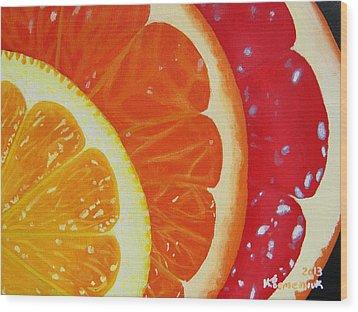 Citrus Hue Wood Print by Kayleigh Semeniuk
