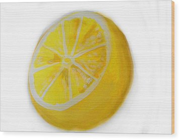 Wood Print featuring the painting Citrus by Marisela Mungia
