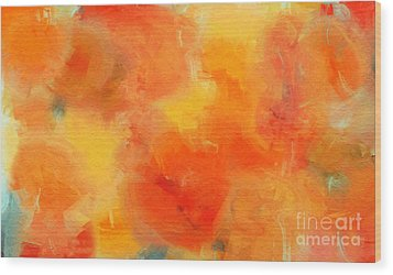 Citrus Passion - Abstract - Digital Painting Wood Print by Andee Design