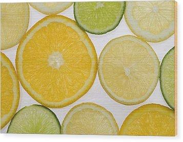 Citrus Slices Wood Print by Kelly Redinger