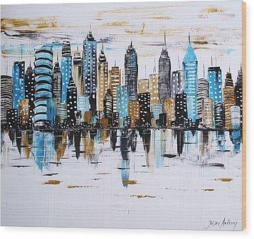 City Abstract Wood Print by Jolina Anthony