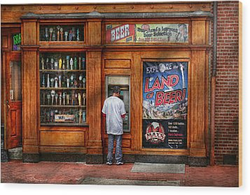 City - Baltimore Md - Explore The Land Of Beer  Wood Print by Mike Savad