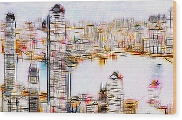 City By The Bay Wood Print by Jack Zulli
