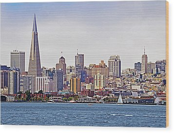 City By The Bay Wood Print by Sindi June Short