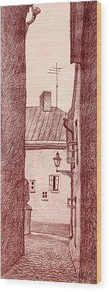 City Corridor A Wood Print by Serge Yudin