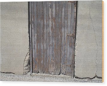 City Door Wood Print