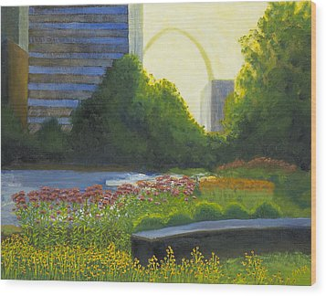City Garden St. Louis Wood Print