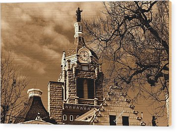 Wood Print featuring the photograph City Hall by Karen Kersey