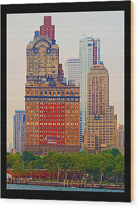 Wood Print featuring the photograph City High by B Wayne Mullins