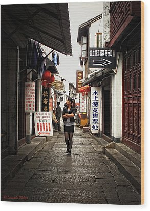 Wood Print featuring the photograph City Life In Ancient China by Lucinda Walter