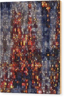 City Lights Wood Print by David Hansen