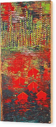 City Lights - Sold Wood Print