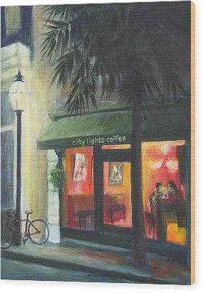 City Lights On Market St. Wood Print