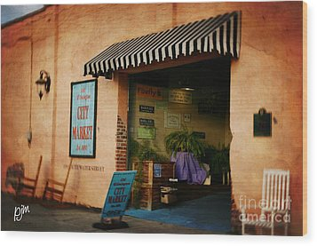 Wood Print featuring the photograph City Market by Phil Mancuso