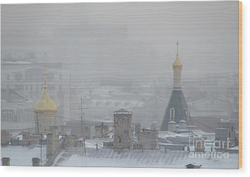 City Mist 1 Wood Print by Anna Yurasovsky