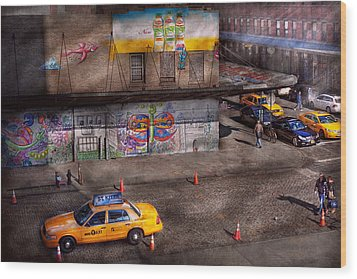 City - New York - Greenwich Village - Life's Color Wood Print by Mike Savad