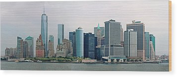 City - Ny - The Financial District Wood Print by Mike Savad