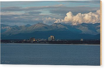 City Of Anchorage  Wood Print