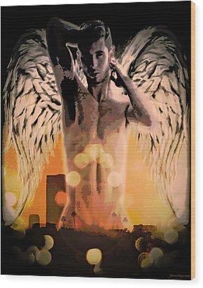 City Of Angels - Sunrise Wood Print